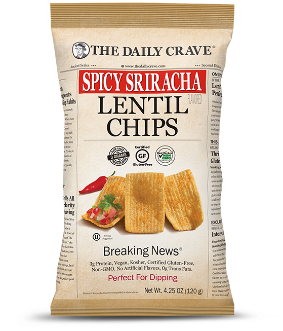 Lentil Chips - Spicy Sriracha