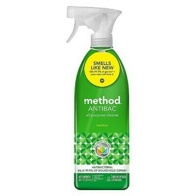 Method Cleaning Products Antibacterial Cleaner Bamboo Spray Bottle