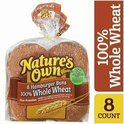 Whole Grain Hamburger Buns 12 Oz