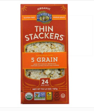 Lundberg Organic 5 Grain Thin Stackers Rice Cakes