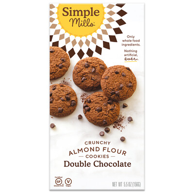 Crunchy Almond Flour Cookies - Double Chocolate