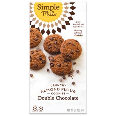 Crunchy Almond Flour Cookies - Double Chocolate