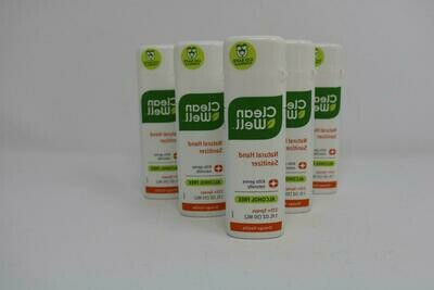 New CleanWell Botanical Hand Sanitizer Spray - Orange Vanilla 1 Ounce Pack