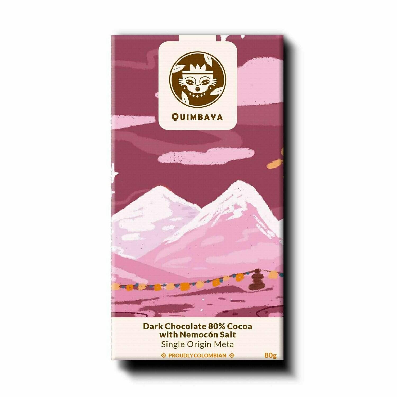 Schokolade 80% Kakao mit Nemocón Salz