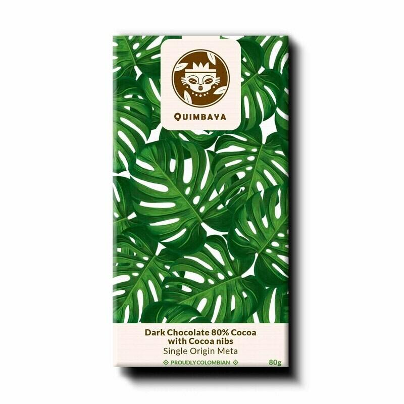 Schokolade 80% Kakao mit Nibs
