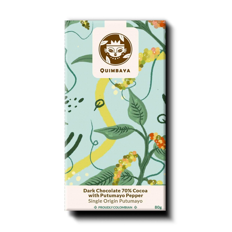 Schokolade 70% Kakao mit Putumayo Pfeffer