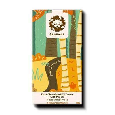 Schokolade 80% Kakao mit Panela