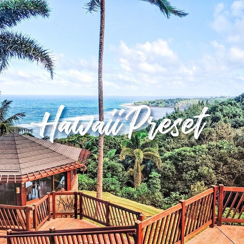 Hawaii Lightroom Preset
