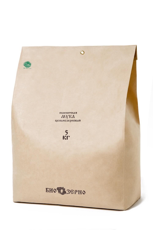 Мука пшеничная цельнозерновая 5 кг