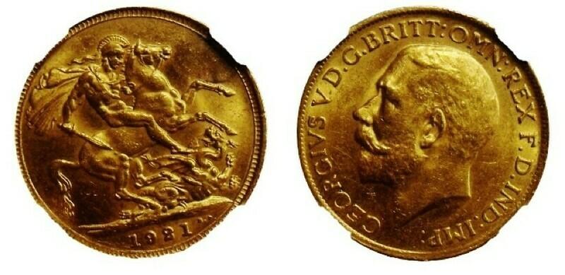 1921 Sydney Mint sovereign