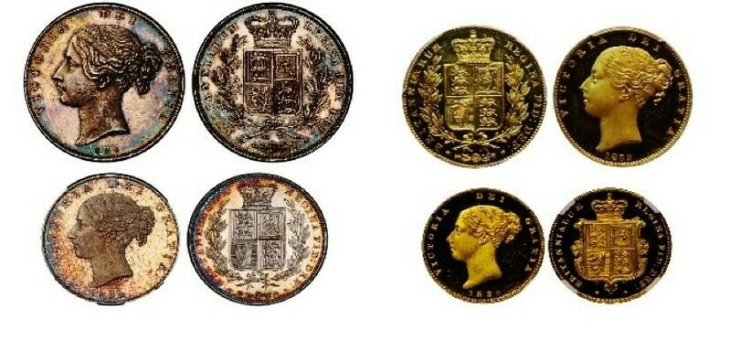 1839 Victoria Una and the Lion part proof set