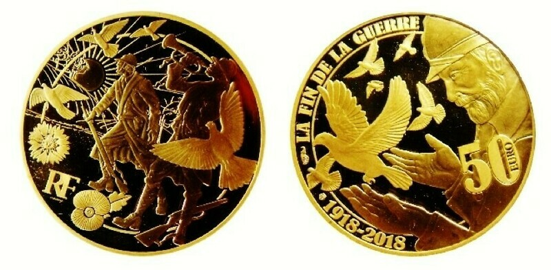 NEW The World War I Centenary Peace 24ct Fairmined Gold proof Coin.