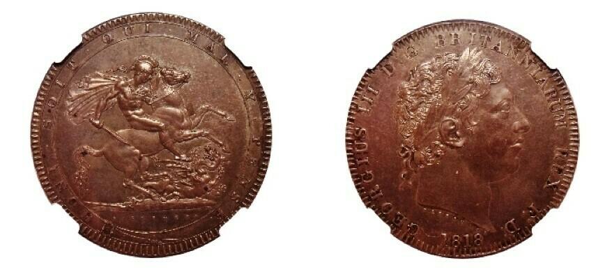 1818 Great Britain LIX Crown