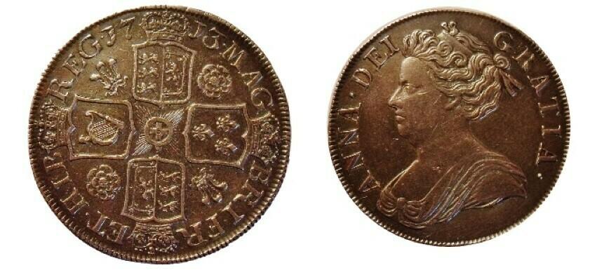 1713 Queen Anne Crown