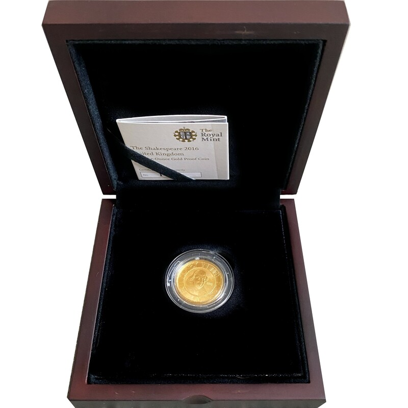 2016 Quarter Ounce Gold Proof Coin