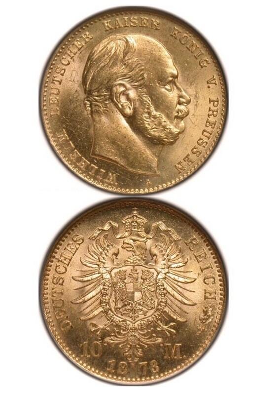 1873-A Germany Gold 10 Mark