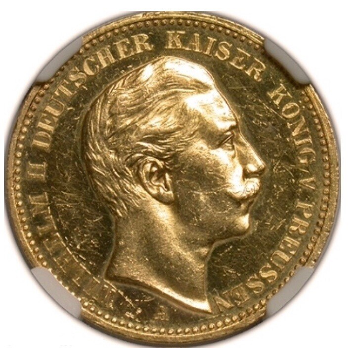 1893-A Germany gold proof 20 Mark