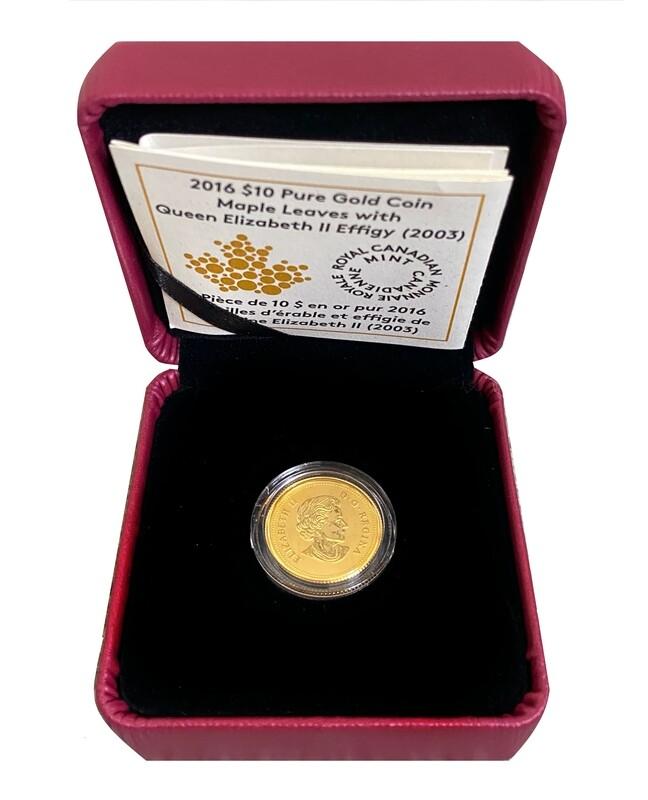 2016 Canada Maple leaf 24ct Gold $10