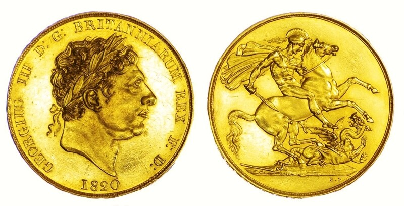 1820 George III Pattern gold proof Two pounds