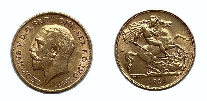 1912 George V 1/2 sovereign