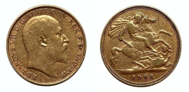 1903 Edward VII 1/2 sovereign
