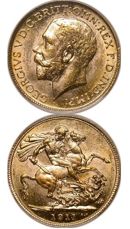 1911-C George V sovereign