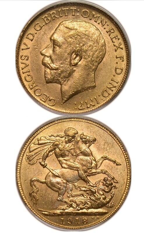 1918-C George V sovereign