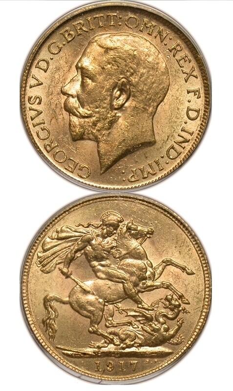 1917-C George V sovereign