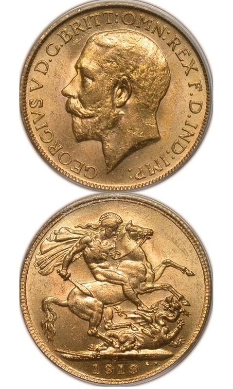 1919-C George V sovereign