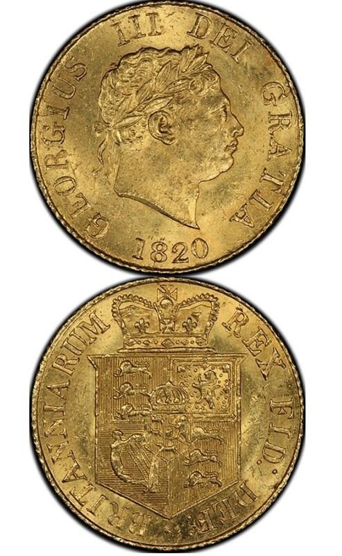 1820 George III 1/2 Sovereign