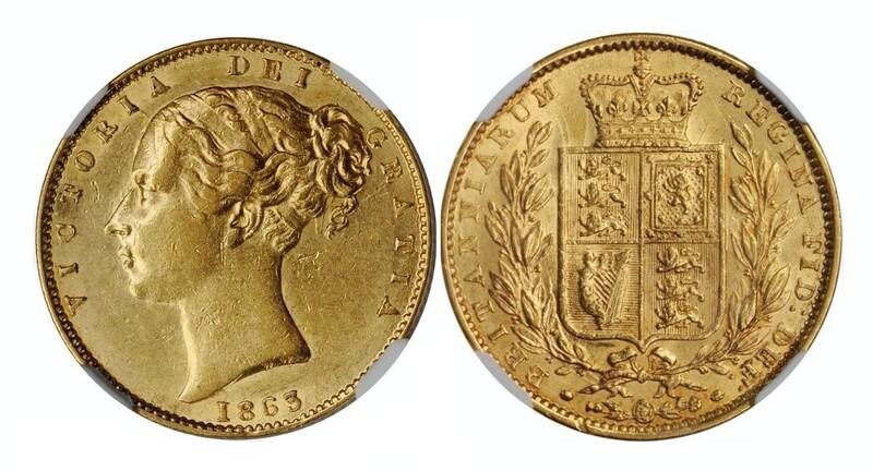 1863 Victoria sovereign