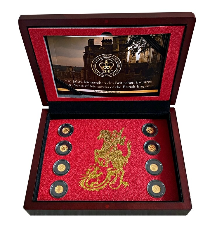 British Empire complete Gold set (8 Gold Coin collection)