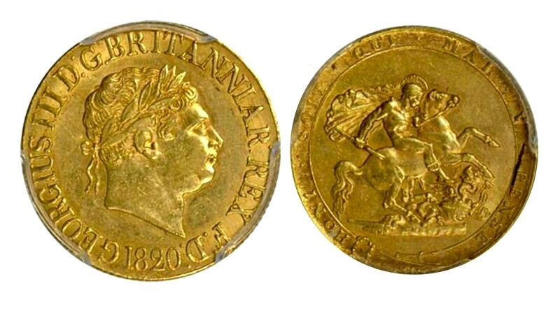 1820 George III gold sovereign