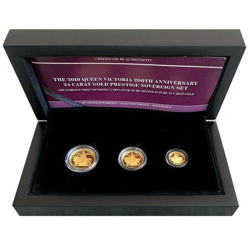 2019 Gold Proof Una & The Lion three coin collection