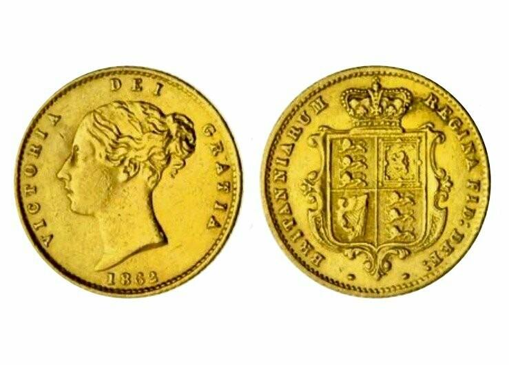 1862 Victoria Half Sovereign