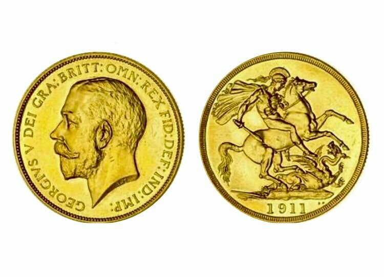 1911 George V Gold Proof Two Pounds