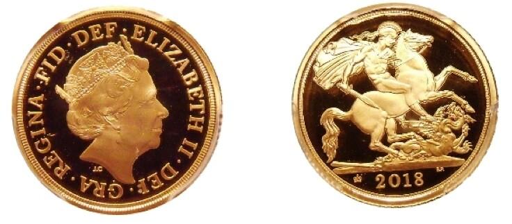 2018 Elizabeth II gold proof sovereign