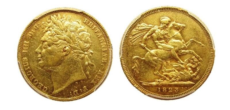 1823 George IV sovereign