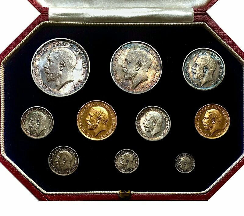 1911 George V Coronation proof 10 coin set