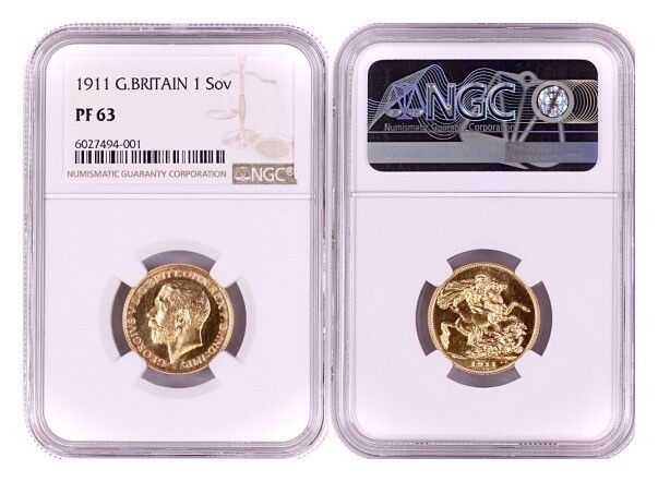 1911 George V coronation Gold Proof Sovereign