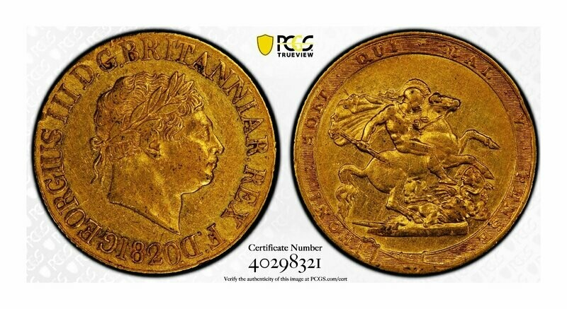 1820 George III Gold-sovereign