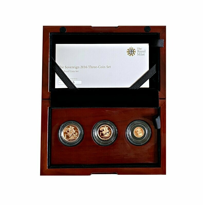 2016 James Butler Gold Proof Three coin set