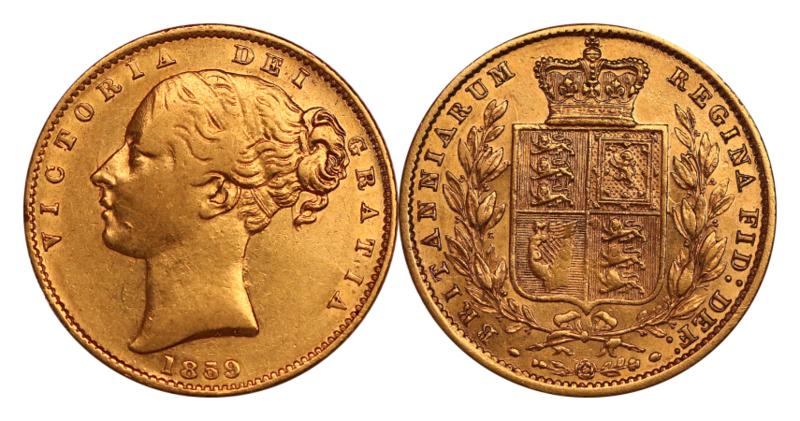 1859 Victoria Ansell Sovereign
