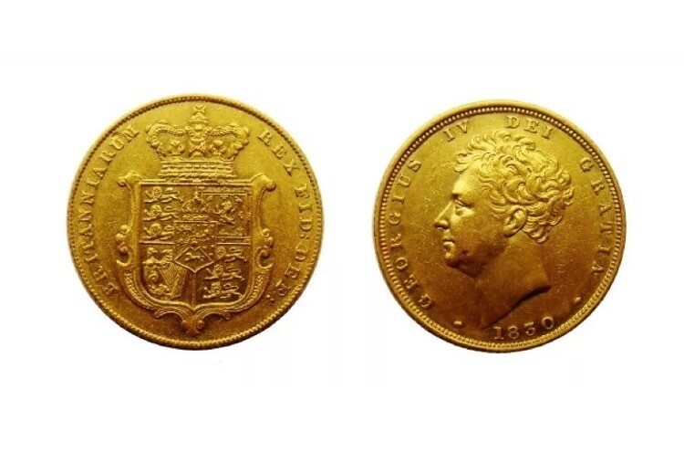 1830 George IV Gold Sovereign