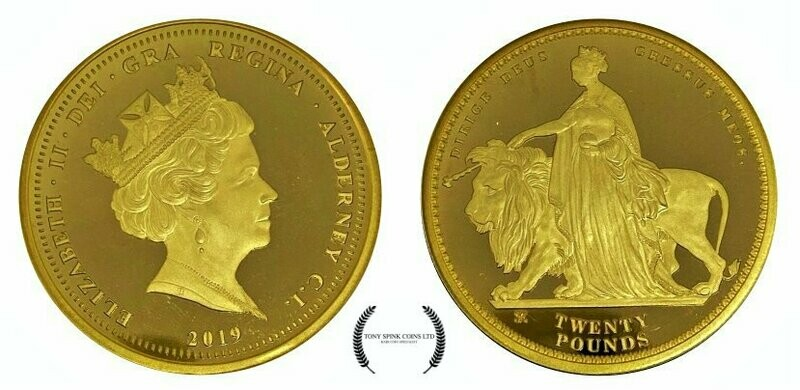 Una and The Lion 24ct Gold Proof Twenty Pounds Coin