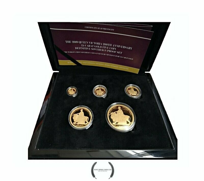 2019 24 carat Gold Proof Una and the Lion Definitive Set