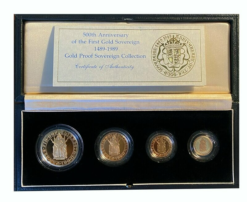 1989 500th Anniversary gold proof 4 coin set