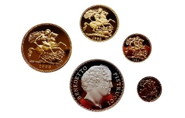 1993 Elizabeth II Gold Proof Four Coin Sovereign set