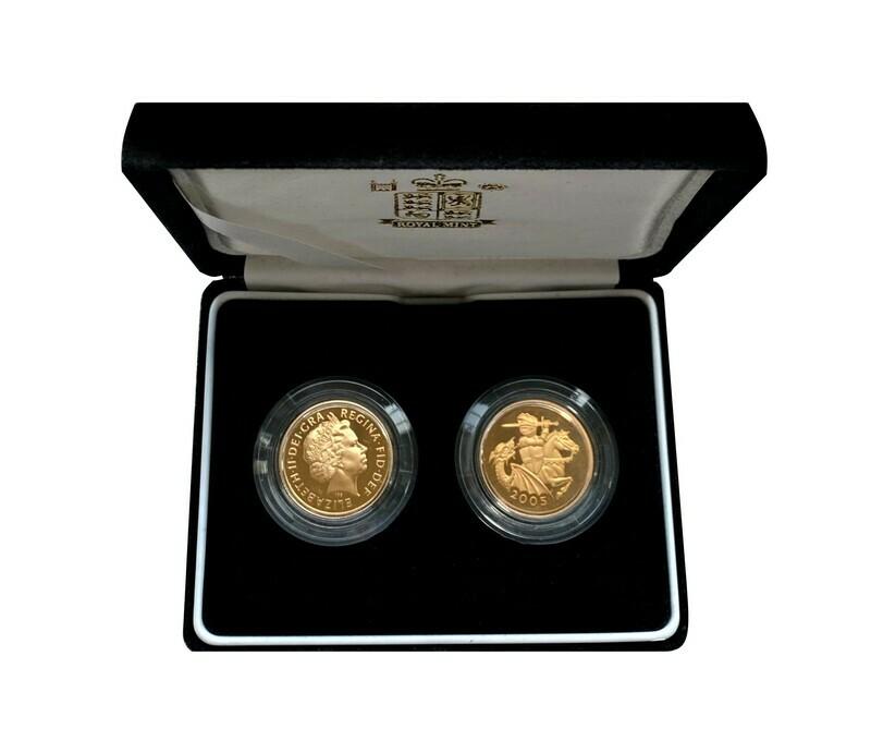 Elizabeth II 2004 & 2005 Gold Proof Sovereigns