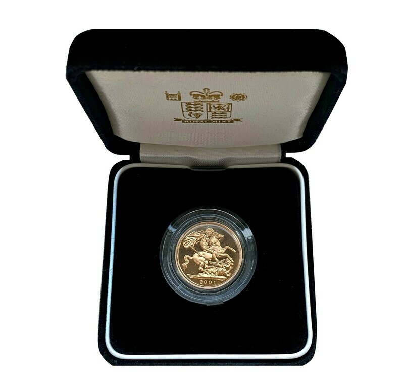 Elizabeth II 2001 Gold Proof Sovereign